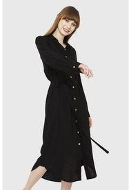 Vestido Camisero Largo Negro Nicopoly