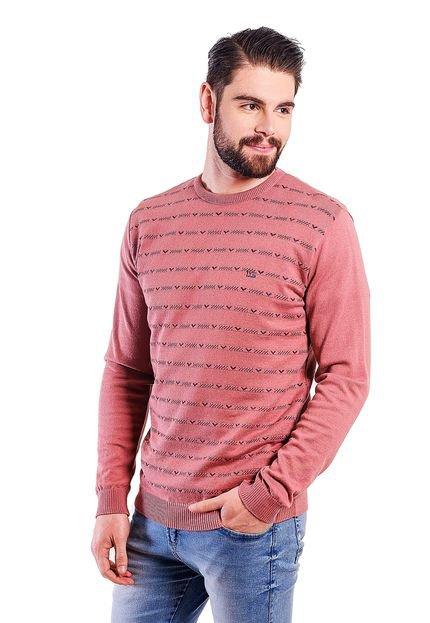 Blusa  Malhas G'Dom com Mini Jackar Salmão