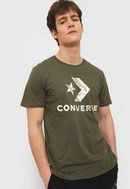 Polera Converse Mc Camo Star Chevron Tee Verde - Calce Regular