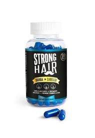 Vitaminas Strong Hair Cabello Y Barba Azul 2 Meses Strong Hair