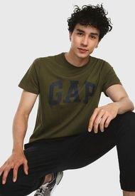 Camiseta Verde Oliva-Azul GAP
