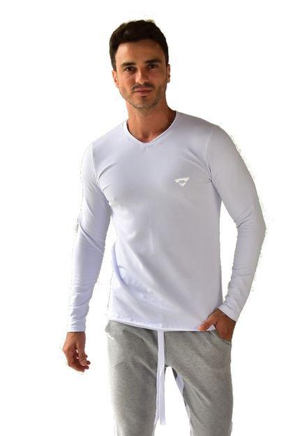Camiseta Brohood Manga Longa Moletom Branco