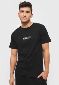 Polera Converse Mc Camo Print Short Sleeve Tee Negro - Calce Regular
