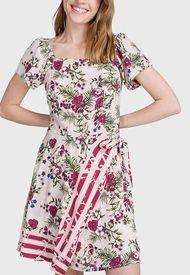 Vestido iO Corto fantasia Rosa - Calce Regular