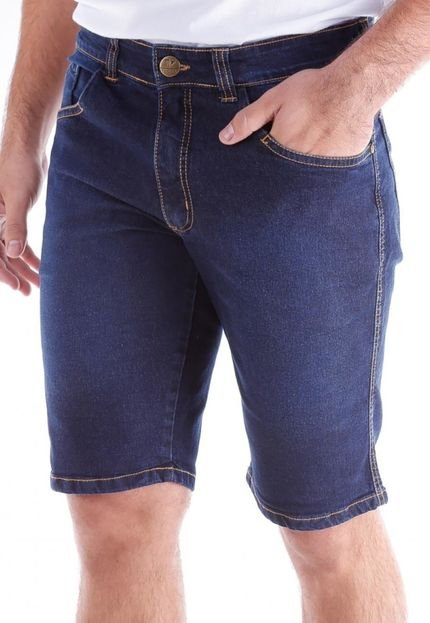Bermuda 685 Jeans Slim Traymon Azul