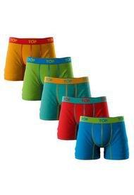 Boxer Medio Algodón Pack 5 Refranes Top