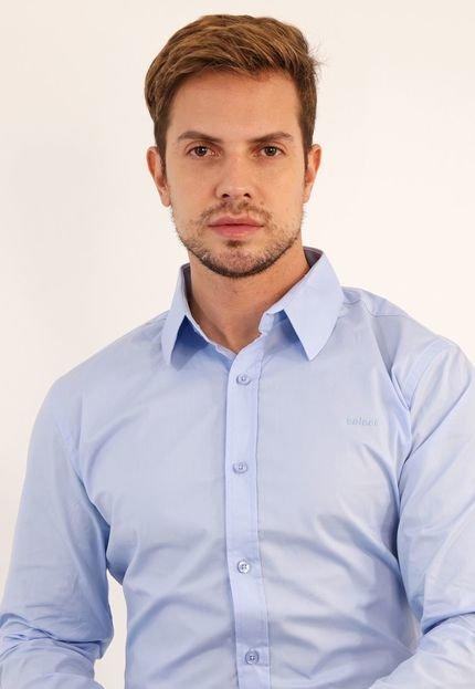 Camisa Colcci Reta Lisa Azul