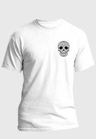 Camiseta Estampada Hombre Negro-Blanco Kuva - Calavera