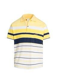 Camiseta Tipo Polo Puntazul Con Bolsillo Amarilla