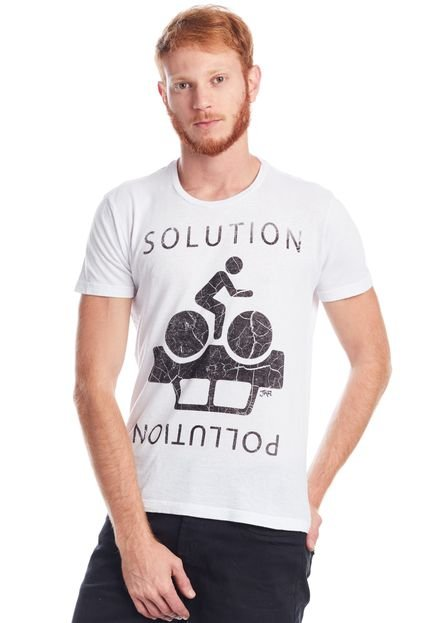 Camiseta JAZZ BRASIL SOLUTION Branca