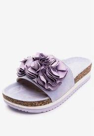 Sandalia Flowers Purple Chancleta