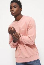 Polerón Calvin Klein COTTON LOGO SWEATSHIRT Rosa - Calce Regular
