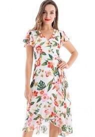 Vestido Envolvente Floral Blanco Nicopoly