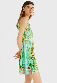 Vestido Desigual Verde - Calce Regular