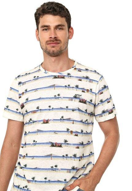 Camiseta Colcci Tropical Bege