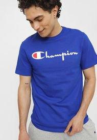 Polera Champion Heritage Short Sleeve Tee Azul - Calce Regular