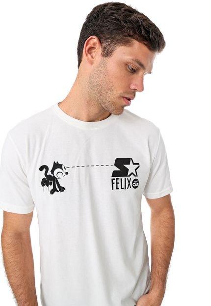 Camiseta Starter Gato Felix Off-White