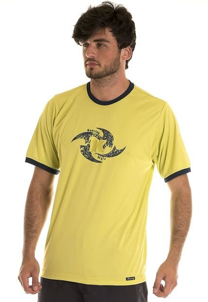 Camiseta Konciny Decote Redondo Amarelo