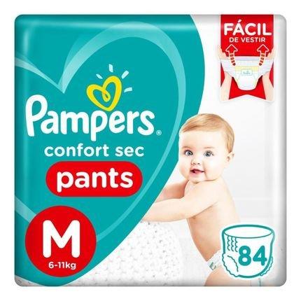Fralda Pampers Confort Sec Pants Jumbo Tamanho M 84 Unidades