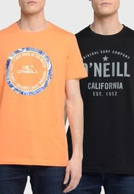 Pack 2 Poleras O'Neill Negro/ Naranjo - Calce Regular