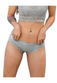Panty Hipsters Y Cacheteros Gris Leonisa 012914