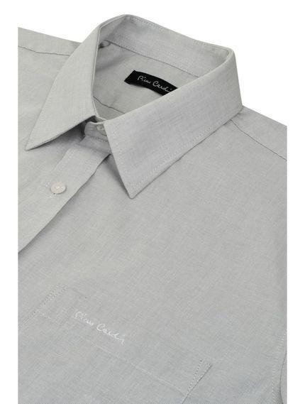 Pierre Cardin Camisa Social Maga Curta Classic Gelo