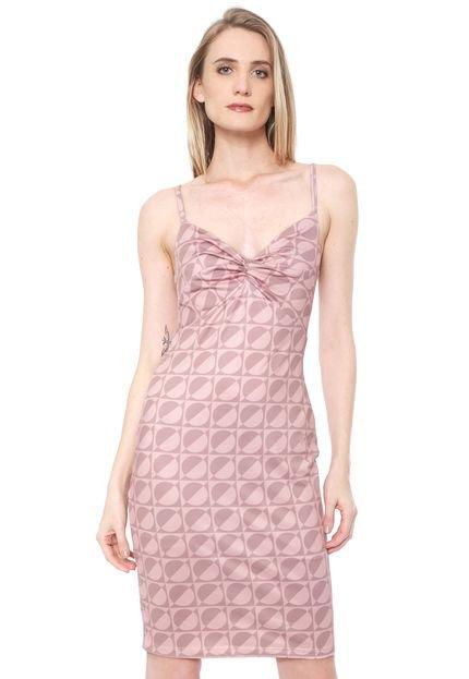 Lança Perfume Vestido Lança Perfume Curto Geométrico Rosa FPbgs