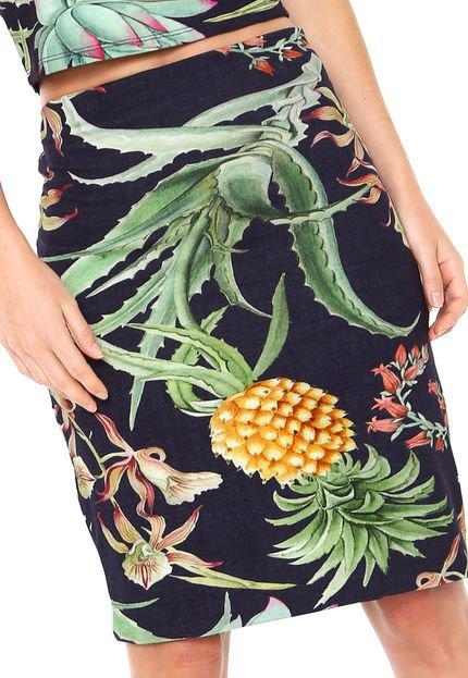 Lez a Lez Saia Lez a Lez Curta Aloe Azul-Marinho