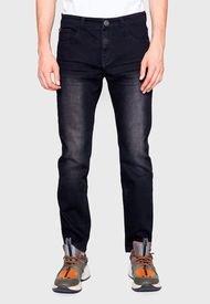 Jeans Basico Skinny Tiro Medio Waterfall Elastic Negro