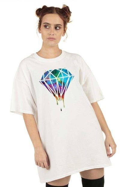 Skull Clothing Blusa Skull Clothing Diamond Branca H0X5U