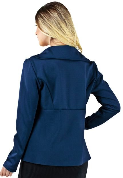 Bravaa Modas Casaco Blazer Bravaa Modas Jaqueta Formal 323 Azul Marinho