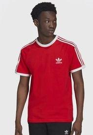 Polera adidas originals 3-STRIPES TEE Rojo - Calce Regular