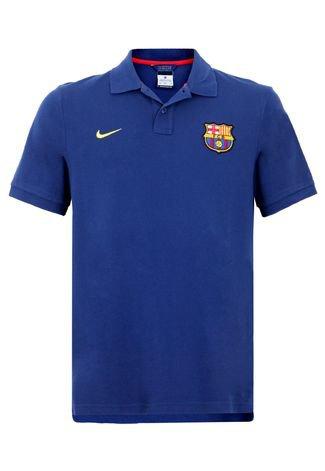 Camisa Polo Nike Barcelona Azul Compre Agora Dafiti Brasil