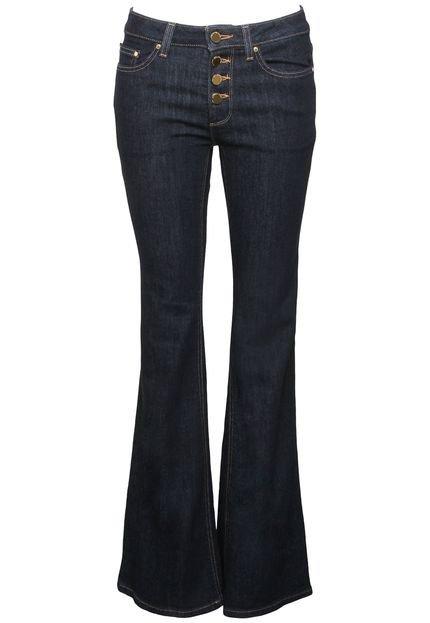Michael Kors Calça Jeans Flare Michael Kors Selma Flar Azul Marinho jkouN