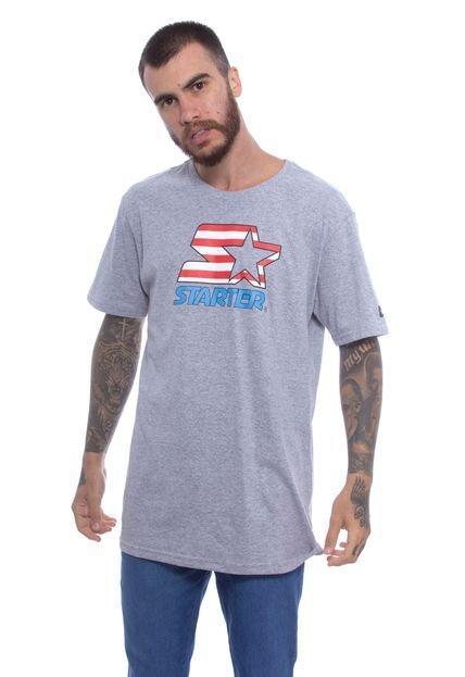 Camiseta Starter Básica Cinza
