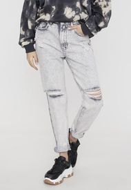 Jeans Mom I Gris  - Mujer
