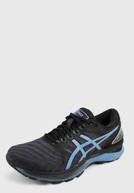 Tenis Running Negro-Azul asics Gel Nimbus 20