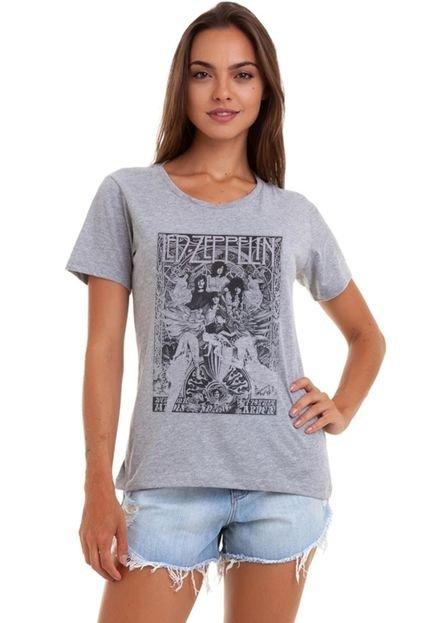 Joss Camiseta Feminina Joss Leds Cinza Mescla IWGNo