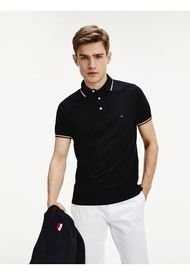 Polo Tommy Tipped Slim Fit Negro Tommy Hilfiger