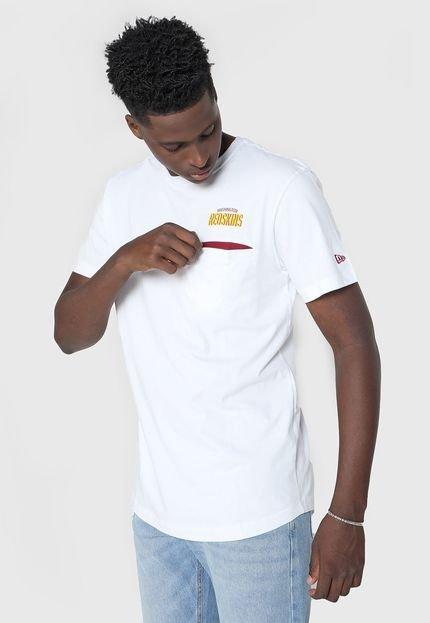 Camiseta New Era Washington Redskins Branca