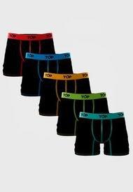 Pack 5 Boxers Top Medio Algodón Refranes Negro