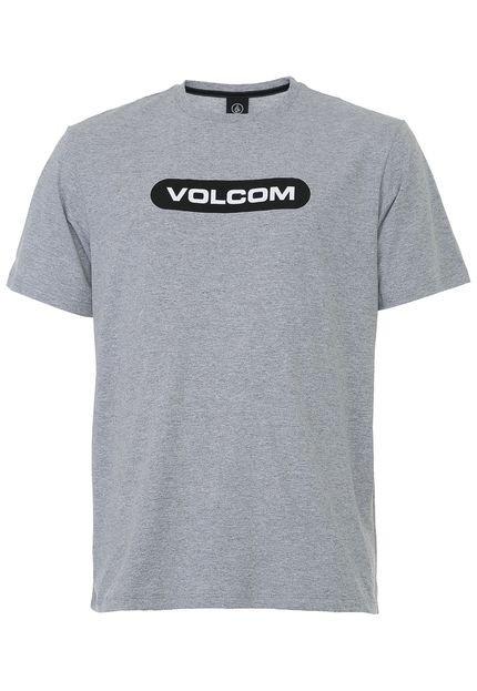 Camiseta Volcom New Euro Cinza
