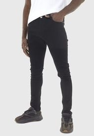 Jeans Brave Soul Long Negro - Calce Ajustado