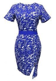 Vestido Manchas Azul Nicopoly