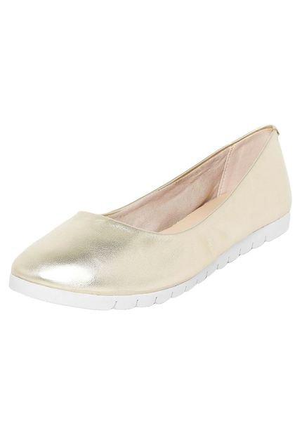 Sapatilha Dafiti Shoes Tratorada Dourada
