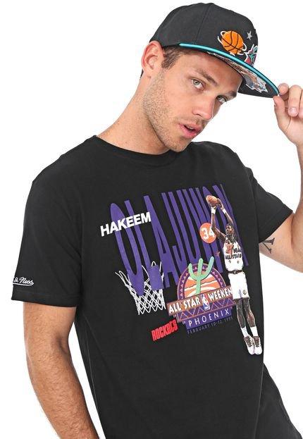 Camiseta Mitchell & Ness NBA All Star Olajuwon Preta