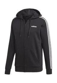 Campera Negra Adidas 3 Stripes Fz Hoodie