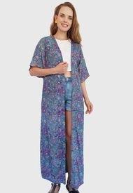 Vestido Pippa Largo Azul - Calce Regular