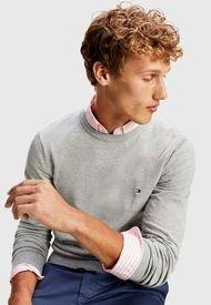 Sweater Tommy Hilfiger Gris - Calce Regular