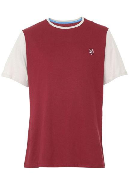 Camiseta Hurley Basic Vinho/Bege
